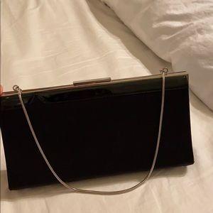 Ann Taylor evening shoulder bag with silver strap